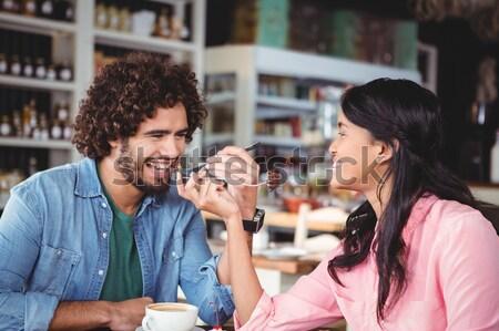 Gelukkig paar counter restaurant business liefde Stockfoto © wavebreak_media