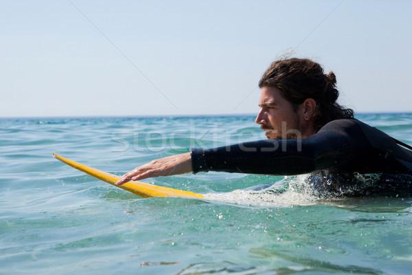Surfer морем пляж человека природы Сток-фото © wavebreak_media