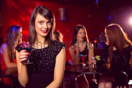 Cheerful female singer performing on stage at nightclub Stock photo © wavebreak_media
