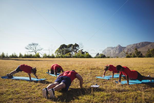 Trener dzieci boot obozu Zdjęcia stock © wavebreak_media