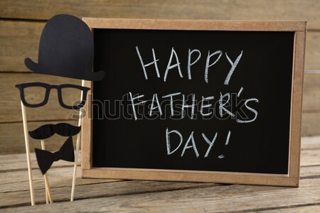 Happy fathers day message on card Stock photo © wavebreak_media