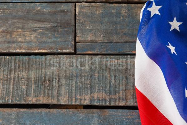 アメリカンフラグ 木製のテーブル クローズアップ 背景 フラグ 自由 ストックフォト © wavebreak_media