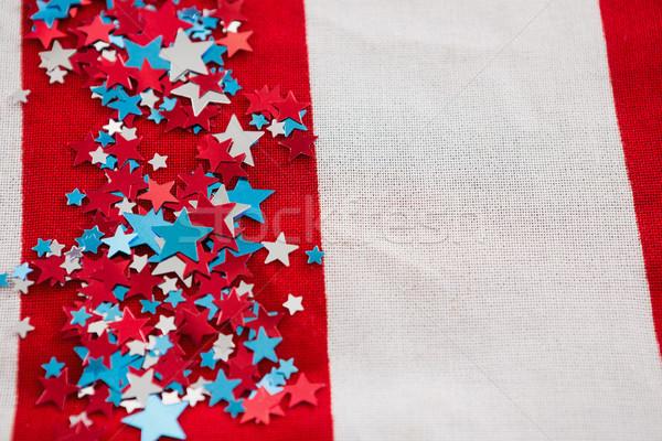 Csillag forma dekoráció amerikai zászló negyedike zászló Stock fotó © wavebreak_media