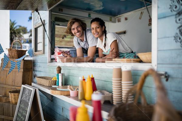 Portrait of waiter and waitress smiling Stock photo © wavebreak_media
