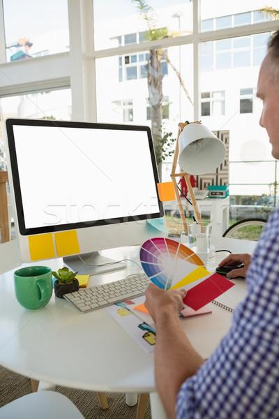 дизайнера цвета сидят столе служба Сток-фото © wavebreak_media