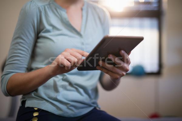 Kobiet terapeuta cyfrowe tabletka szpitala lekarza Zdjęcia stock © wavebreak_media