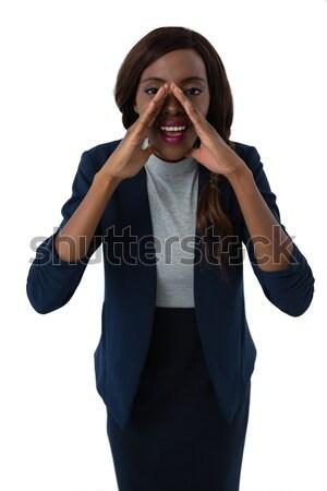 Portrait femme d'affaires blanche femme travail Photo stock © wavebreak_media