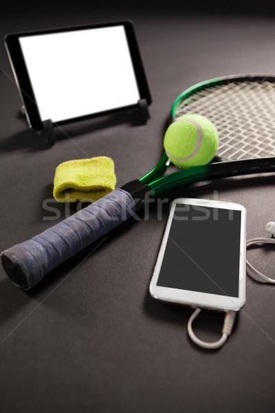 Magasról fotózva kilátás technológiák tenisz felszerlés fekete Stock fotó © wavebreak_media