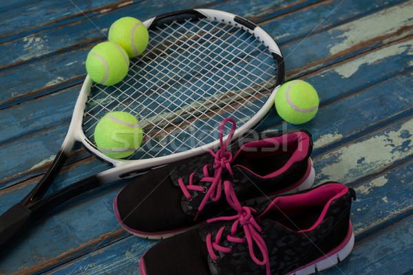 Zwarte sport schoenen tennis Stockfoto © wavebreak_media
