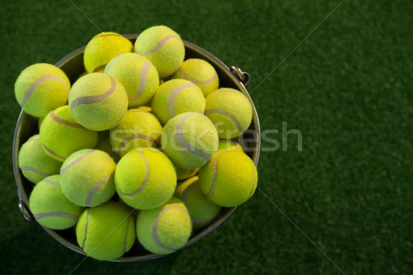 Vue tennis seau domaine Photo stock © wavebreak_media