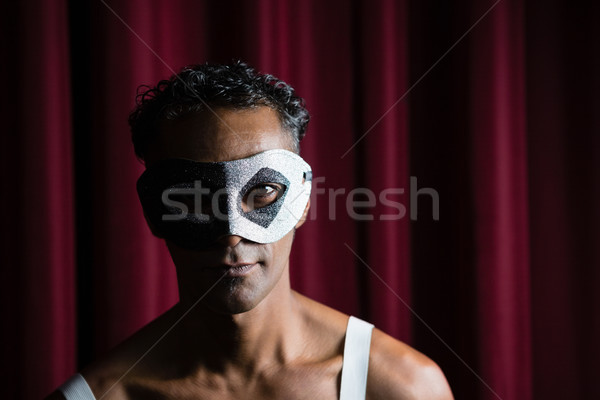 Man wearing masquerade mask in stage Stock photo © wavebreak_media