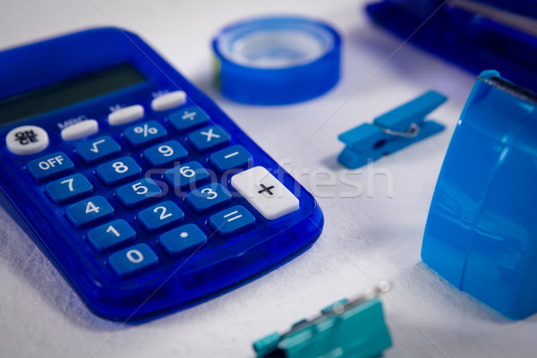 Różny materiały biurowe biały biuro przycisk Zdjęcia stock © wavebreak_media