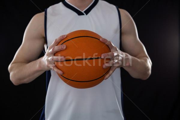 Spieler halten Basketball schwarz Sport Stock foto © wavebreak_media