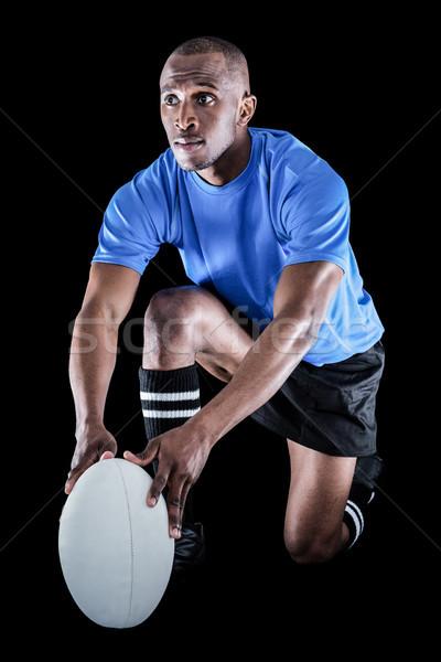 Rugby jogador bola preto Foto stock © wavebreak_media