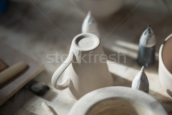 Stock photo: Close-up of ceramic mug