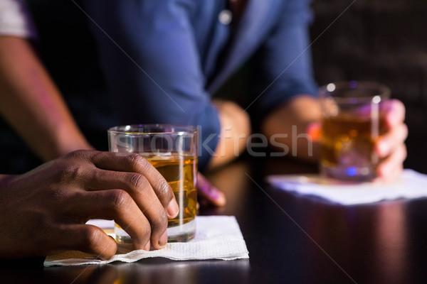 二人の男性 ウイスキー バー カウンタ アルコール パブ ストックフォト © wavebreak_media