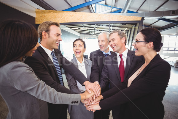 Businesspeople hands stacked over each other Stock photo © wavebreak_media