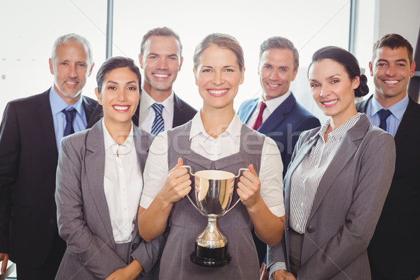 Vitória equipe de negócios executivo troféu retrato Foto stock © wavebreak_media