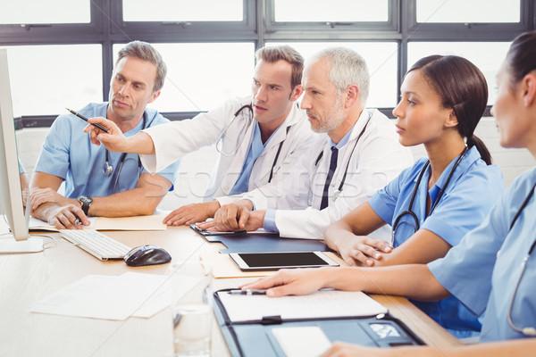 Medical team interacting in conference room Stock photo © wavebreak_media