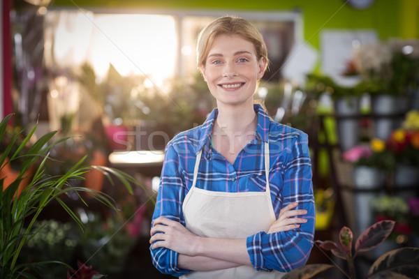 Retrato feminino florista sorridente negócio Foto stock © wavebreak_media