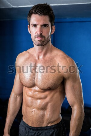 Male athlete with arms crossed in gym Stock photo © wavebreak_media