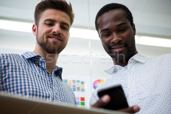 графических мобильного телефона служба интернет веб Сток-фото © wavebreak_media