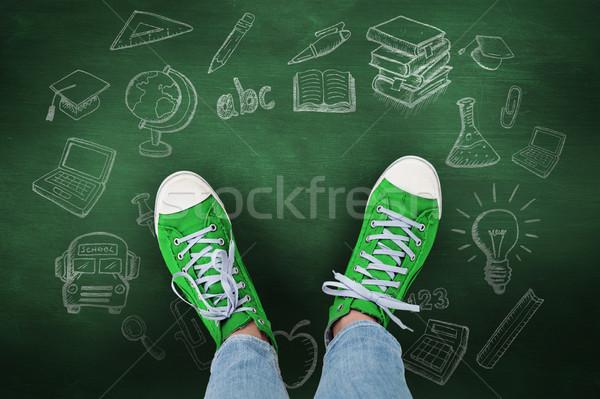 Immagine casuale scarpe verde lavagna Foto d'archivio © wavebreak_media