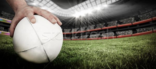Afbeelding rugby speler poseren Stockfoto © wavebreak_media