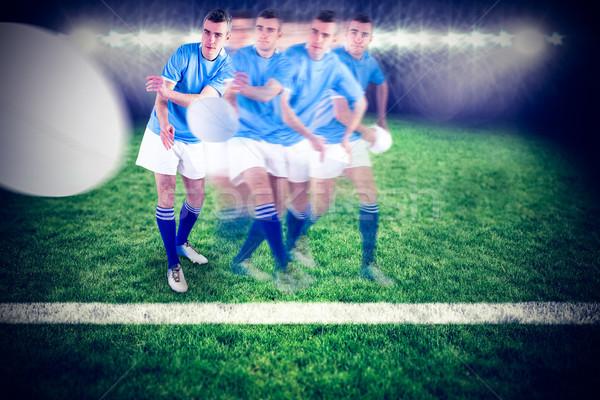 Imagem rugby jogador Foto stock © wavebreak_media