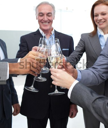Close-up of business team toasting with Champagne Stock photo © wavebreak_media