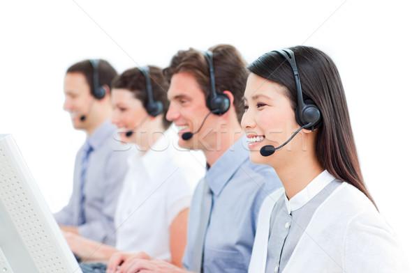 顧客サービス 作業 コールセンター 白 コンピュータ ストックフォト © wavebreak_media