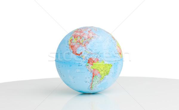 Közelkép földgömb háttér Föld kék fehér Stock fotó © wavebreak_media