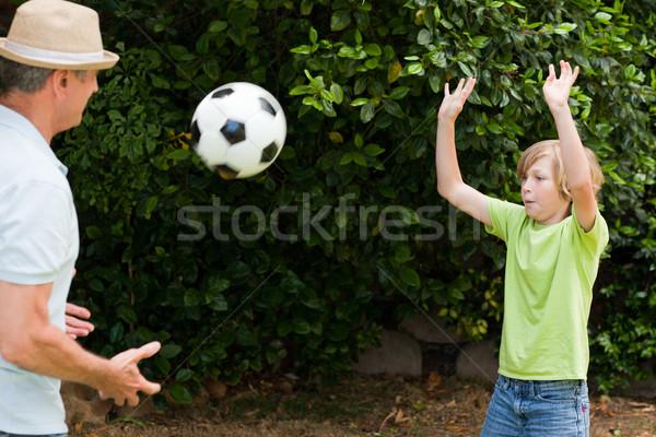 祖父 孫 演奏 サッカー サッカー 楽しい ストックフォト © wavebreak_media