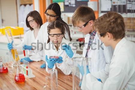 Kollázs néhány tudósok labor nő orvos Stock fotó © wavebreak_media