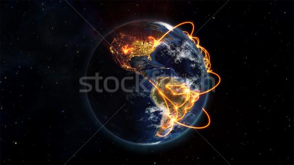 Illusztrált kép világ Föld kép szívesség Stock fotó © wavebreak_media