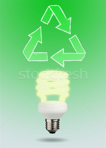 Közelkép villanykörte zöld technológia lámpa energia Stock fotó © wavebreak_media