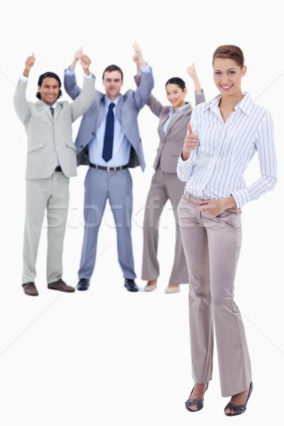 Titkárnő előtér üzletemberek remek fehér férfi Stock fotó © wavebreak_media