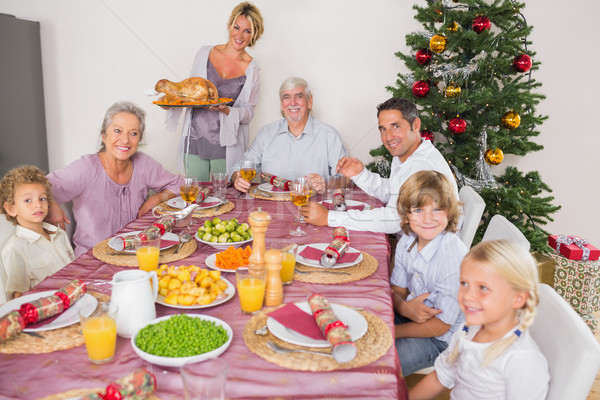 Anya Törökország ebédlőasztal karácsony ház férfi Stock fotó © wavebreak_media