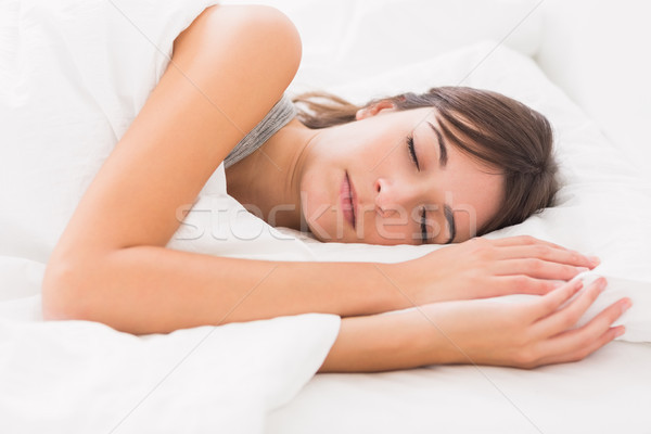 Woman asleep in bed Stock photo © wavebreak_media