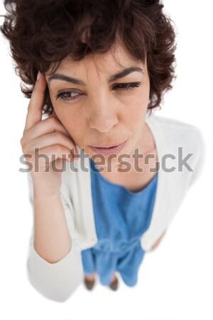 Mulher dor de cabeça tocante retrato estresse cabeça Foto stock © wavebreak_media