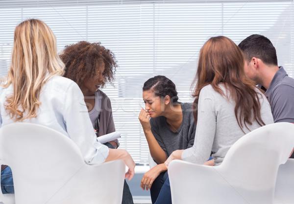 Grupo terapia terapeuta escritório homem reunião Foto stock © wavebreak_media