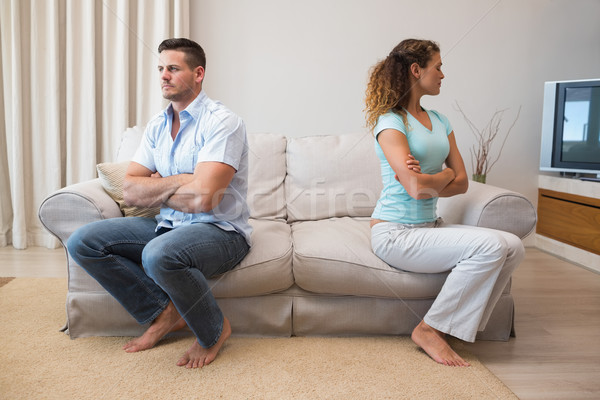 Couple having an argument in living room Stock photo © wavebreak_media