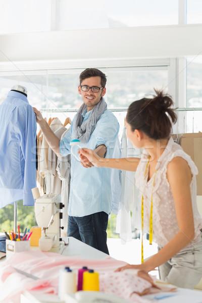 Moda trabalhar brilhante estúdio masculino feminino Foto stock © wavebreak_media