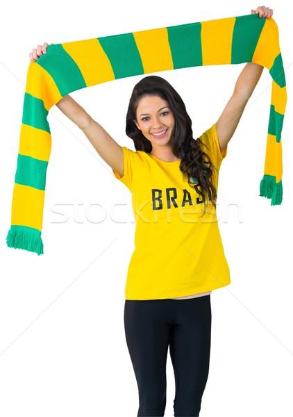Excited football fan in brasil tshirt Stock photo © wavebreak_media