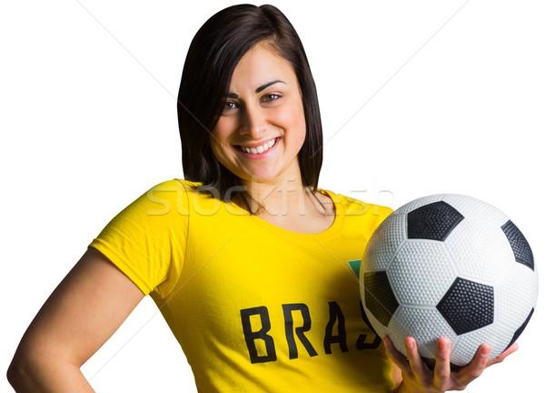 Pretty football fan in brasil tshirt Stock photo © wavebreak_media