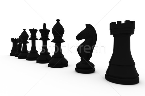 Negro piezas de ajedrez blanco ajedrez digital Foto stock © wavebreak_media