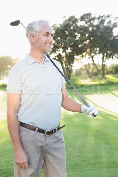 Sorridere bello golfista campo da golf Foto d'archivio © wavebreak_media