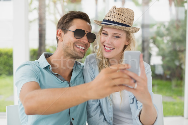 бедро вместе кафе терраса Сток-фото © wavebreak_media
