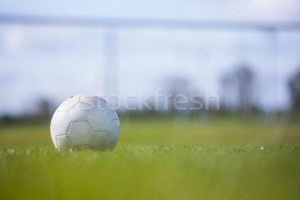 Futball üres pálya fű sport mező Stock fotó © wavebreak_media