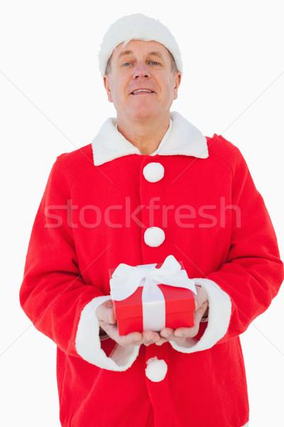 Feestelijk man christmas geschenk witte Stockfoto © wavebreak_media